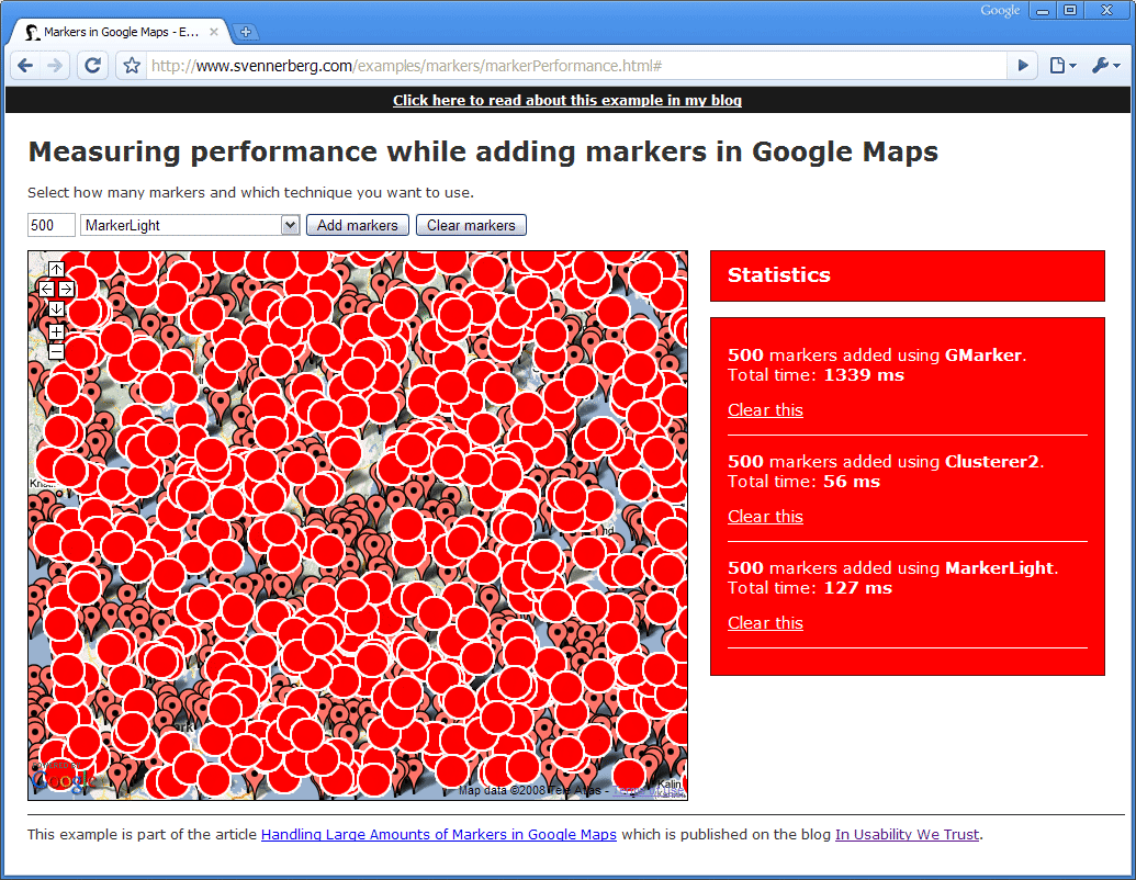 Handling Large Amounts of Markers in Google Maps – In