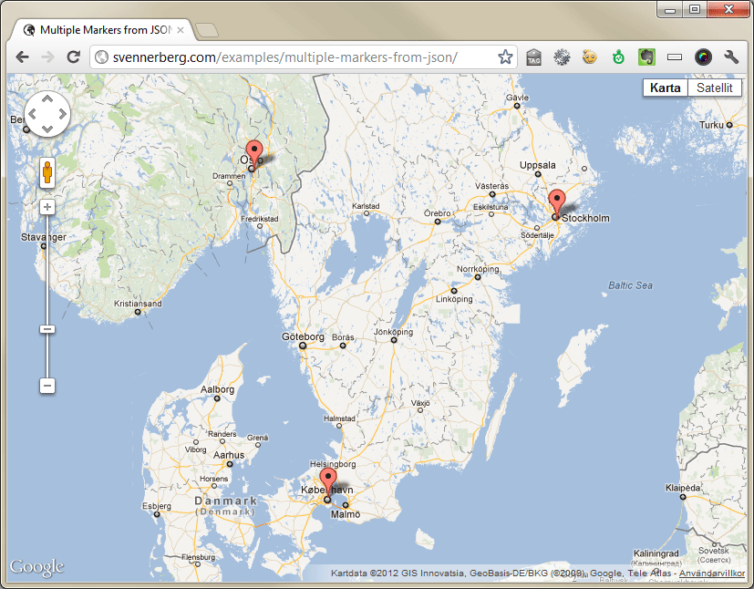 Adding multiple markers to google maps from json in usability we live demo gumiabroncs Gallery